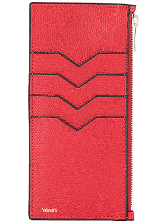 Valextra zipped card case - Red
