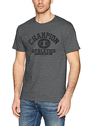 af4354e9 Champion Mens Classic Jersey Graphic T-Shirt Shirt, Charcoal Heather/ Champion Athletics,