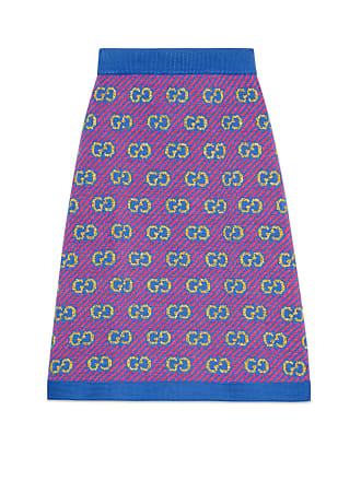 9f5995d7b Gucci Falda de jacquard de lana a rayas con GG