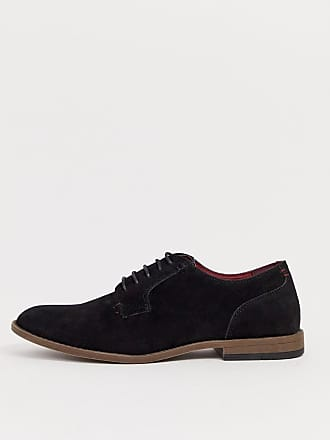 New Look faux suede derby shoes in black - Black