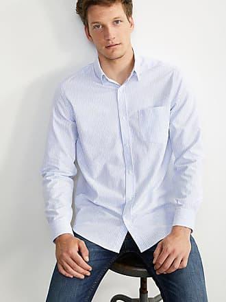 bc5235cb34d3 Cyrillus Herren Oxford-Hemd, gerade Passform, gestreift himmelblau weiß  gestreift