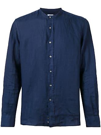 Aspesi Camisa com gola chinesa - Azul