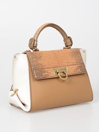 81d03ed62ea0 Salvatore Ferragamo Leather SOFIA Shoulder Bag with Lizard Skin Details  size Unica