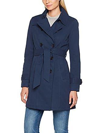 bc4067e605b5 Tommy Jeans Damen Basic Lang - Regulär Trenchcoat Jacke Blau (Dress Blues)  Medium