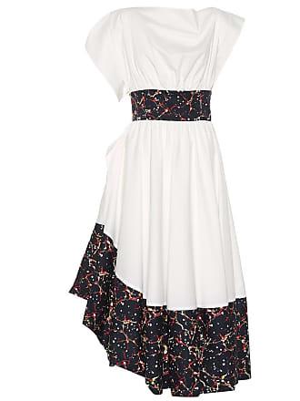 Rosie Assoulin Bubble Tea Length poplin dress