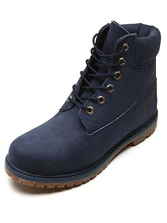 Timberland Bota Couro Timberland Yellow Boot Azul-Marinho