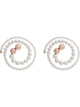 Y / Project Par de brincos espirais - Branco