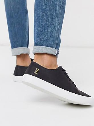 Farah Schwarze Schnür-Sneaker mit dicker Sohle