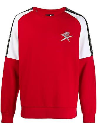 Plein Sport Suéter listrado com logo - Vermelho