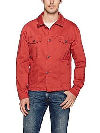Zanerobe Mens Snitch Denim Jacket, Vintage red, m