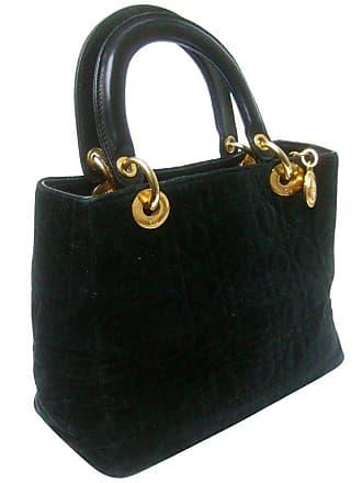 b2877e244435 Dior Black Quilted Velvet Cannage Handbag Circa 1990s
