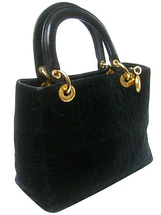 b69c94ae40 Dior Black Quilted Velvet Cannage Handbag Circa 1990s