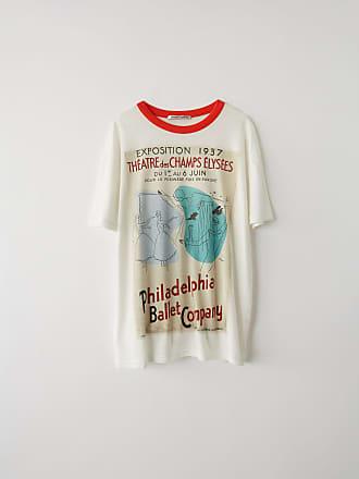 7c7d6ab1f8f Acne Studios FN-WN-TSHI000129 Blanc ivoire T-shirt imprimé