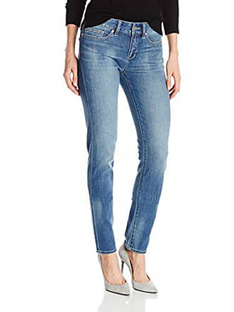 Yummie Tummie Womens Modern Mid Rise Slimming Straight Denim Jeans, Blasted, 25
