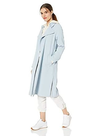 Kendall + Kylie Womens Long Trench Coat, Blue, M