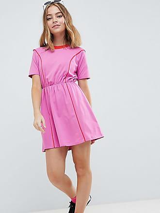 9766f703b8 Asos Petite ASOS DESIGN Petite mini skater dress in colour block