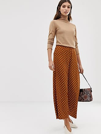 Y.A.S wide leg spot culottes - Brown