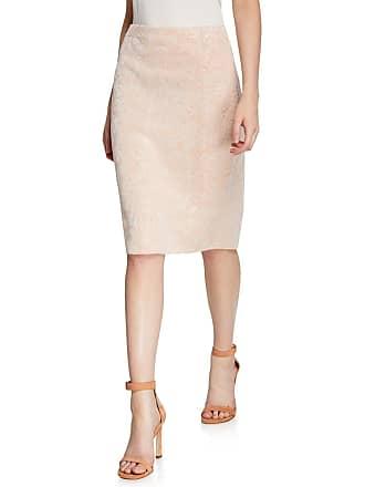 Iconic American Designer Floral Jacquard Pencil Skirt