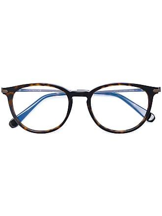 Brioni Armação de óculos redonda - Marrom