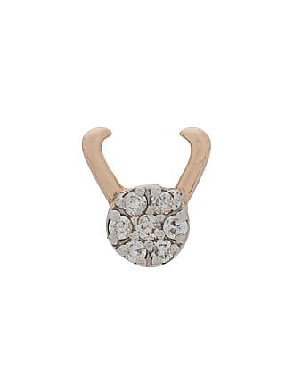 Kismet by Milka Brinco único Taurus de ouro 14k com diamante - Rose Gold