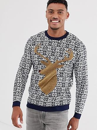 Asos Foundation - Kersttrui met hert-Marineblauw