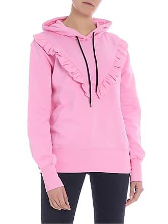 Msgm Pink sweatshirt with ruffles