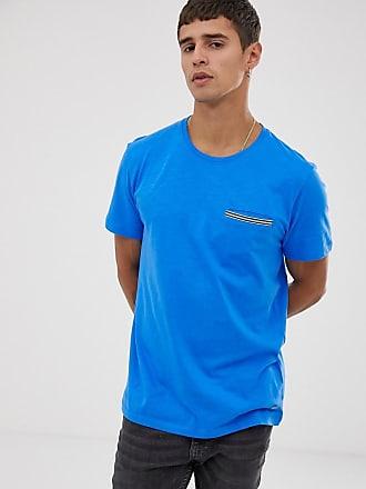 Esprit T-Shirt mit verzierter Tasche in Blau