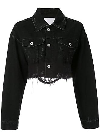 Ground-Zero Jaqueta jeans cropped - Cinza