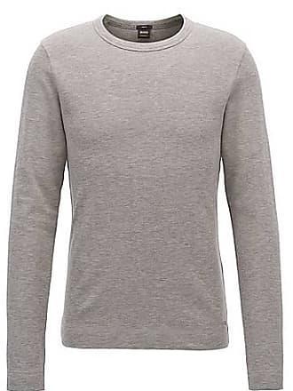 2dfe18357bc BOSS T-shirt Slim Fit à manches longues en coton chiné69.95