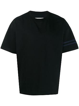 Facetasm Camiseta com recortes - Preto