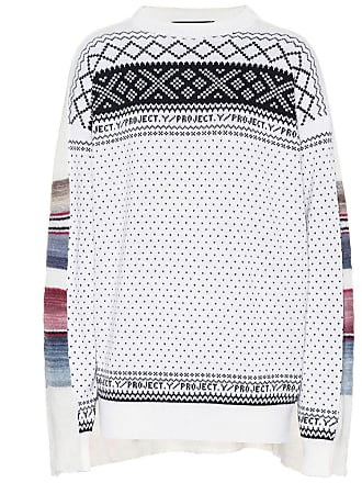 Y / Project Intarsia wool-blend sweater