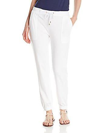Joan Vass Womens Track Pant, White, 0