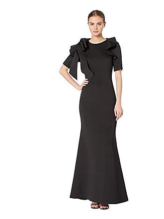 7eb9ac67e0a6 Badgley Mischka Short Sleeve Bow Shoulder (Black) Womens Dress