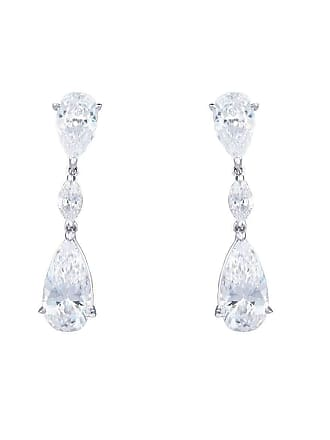 Fantasia Sterling Silver & Palladium Pearshape and Marquise Drop Earrings