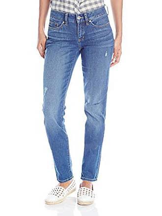 Yummie Tummie Modern Mid Rise Slimming Straight Denim Jeans, Rugged Wash, 31