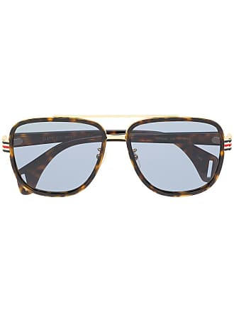 507d462f558 Gucci square frame sunglasses - Brown