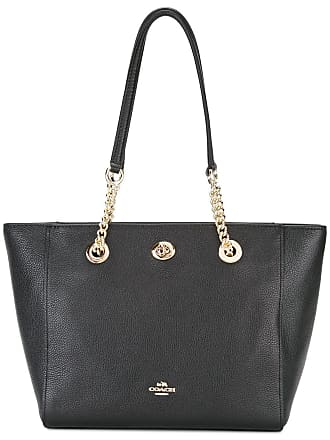 Coach Turnlock chain tote - Black