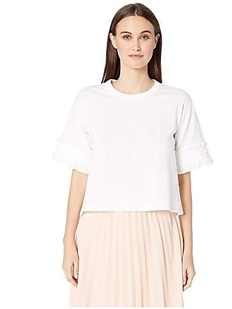 e58ffeea6a276d See By Chloé Embellished Sleeve T-Shirt (White Powder) Womens Clothing