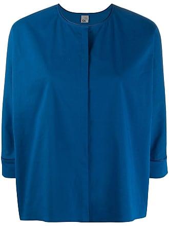 Ql2 Quelledue concealed front blouse - Azul