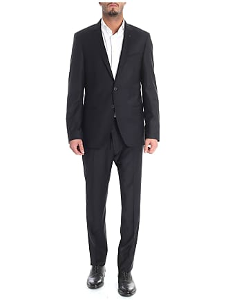 Karl Lagerfeld Black wool two button suit