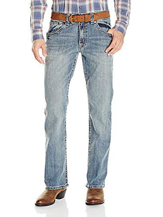 Wrangler Mens Rock 47 Slim Fit Boot Cut Jean, Blues 32x30