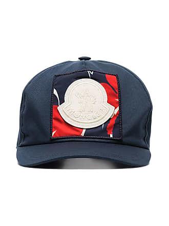 Moncler blue logo embroidered applique cotton baseball cap - Azul