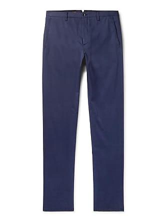 Zanella Noah Navy Slim-fit Garment-dyed Stretch-cotton Chinos - Navy