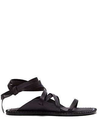 fda2904ba8d4 Ann Demeulemeester Wrap Around Leather Sandals - Womens - Black