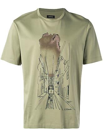 Ermenegildo Zegna tram print T-shirt - Green