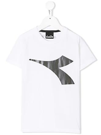 Diadora Camiseta com logo - Branco