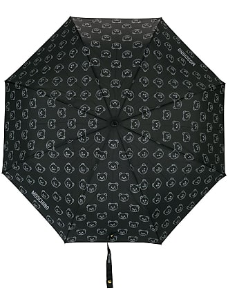 Moschino Teddy bear foldable umbrella - Black