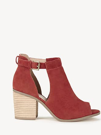 0c1a3463b09 Sole Society Womens Ferris Block Heels Sandals Poppy Size 5 Suede From Sole  Society