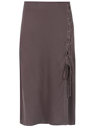 OLYMPIAH Chincheiro midi skirt - Brown