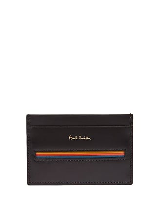 Paul Smith Signature Stripe Insert Leather Cardholder - Mens - Black